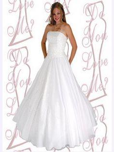 Ball Gown Strapless Beading Sleeveless Floor-length Organza White Prom Dress