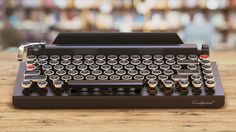 lowest price c6f7f a97d1 Amazon.com  Qwerkywriter S Typewriter Inspired Retro Mechanical Wired    Wireless Keyboard with Tablet Stand  Computers   Accessories