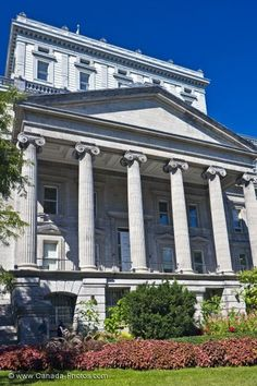 the historical building, the Edifice Lucien Saulnier in Old Montreal, Quebec.