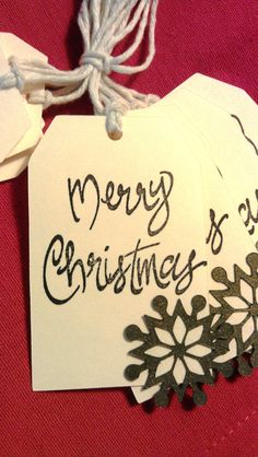 Holiday Gift Tags Merry Christmas Gift Tags by LivingSewBeautiful, $6.50