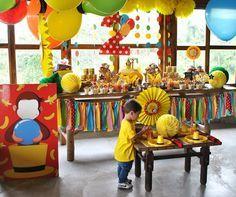 Second Birthday Boys, 3rd Birthday Parties, It's Your Birthday, Boy Birthday, Birthday Ideas, Curious George Party, Curious George Birthday, Party Decoration, Balloon Decorations