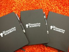 Noir Notebooks with printed Curvy Pen. A brilliant stationery combo!
