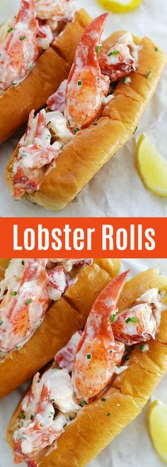 Lobster Rolls – the best homemade New England Lobster Rolls recipe filled with juicy and succulent lobsters, so delicious you'll want seconds | rasamalaysia.com