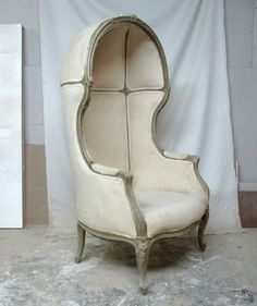 1960's French Hooded Canopy Chair by HomeAgainBushwick on Etsy, $1,600.00