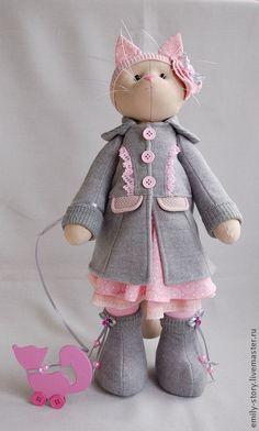 Toy animals, handmade.  Fair Masters - handmade cat Grace.  Handmade.