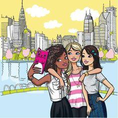 Barbie Cartoon, Girl Cartoon, Cartoon Art, Barbie Painting, Barbie Drawing, Barbie Coloring Pages, Barbie Colouring, Barbie Quotes, Barbies Pics