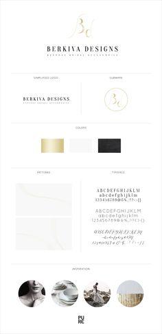 Brand Launch: Berkiva Designs | Brand design by PURE Art & Design | Classic | Gold | Monogram