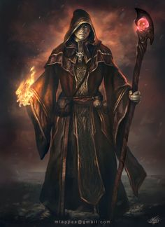 Fantasy Wizard, Dark Wizard, Fantasy Male, Fantasy Warrior, Fantasy Rpg, Medieval Fantasy, Fantasy Artwork, Evil Wizard, Dungeons And Dragons Characters