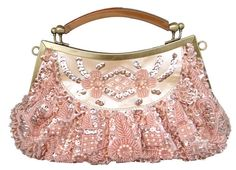Exquisite shining sequins with handmade beading evening bag/clutch bag