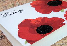 Thank You Notes  Red Poppy Cards by thesweetunfolding on Etsy, $12.00