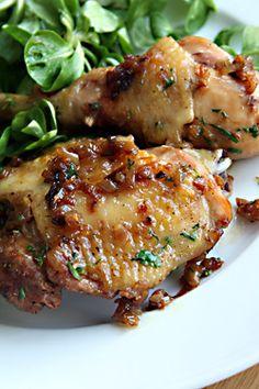 Simple, elegant chicken with carmelized shallots | David Lebovitz, My Paris Kitchen
