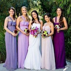 Inspiração para noivinhas que amam tons de roxo e lilás... Esses tons em degradê ficaram o máximo!!!