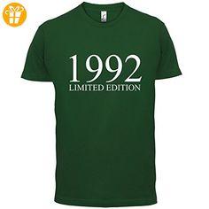 1992 Limierte Auflage / Limited Edition - 25. Geburtstag - Herren T-Shirt - Flaschengrün - XXXL - T-Shirts mit Spruch | Lustige und coole T-Shirts | Funny T-Shirts (*Partner-Link)