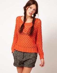 b + ab Pointelle Knit Sweater
