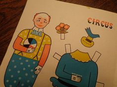 good party favors! Vintage Original 1950s Circus Clown Paper Dolls 4 by seasearider, $6.00