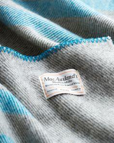 Charcoal Grey Wool Blanket - MacAusland Woolen Mills - Nalata Nalata