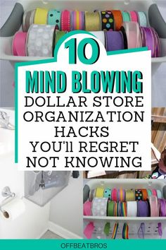 An organized home is extremely important and these dollar store organization ideas will help you organize your home easily. These 10 Dollar Store organization ideas are simply perfect home organization hacks. Definitely Saving for Later! #dollarstoreorganizationideas #dollarstoreorganizationhacks #offbeatbros #smallhomeorganization #homeorganizationhacks #organizationideas Organisation Hacks, Organizing Hacks, Small Space Organization, Organizing Your Home, Life Organization, Dollar Store Hacks, Dollar Store Crafts, Dollar Stores, Diy Organizer