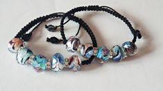 Adjustable bracelet with crystal beads and Rhinestone spacers, silk cord. Crystal Beads, Crystals, Adjustable Bracelet, Hippie Boho, Handmade Items, Beaded Bracelets, Etsy, Jewelry, Boho Hippie