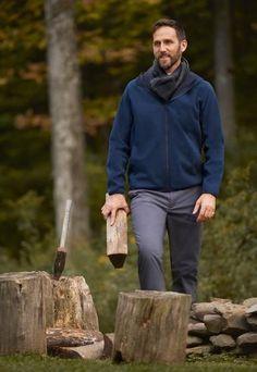 Layer up this season in our Men's Blocktech Fleece Long-Sleeve Full-Zip Hoodie. Full Zip Hoodie, High Collar, Winter 2017, Uniqlo, Parka, Looks Great, Men's Fashion, Hoodies, Hoodie