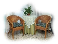 Wicker is durable and easy to refinish.