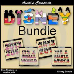 Disney Bundle Alphabet/Letters & Numbers Clip Art