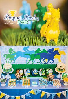 Preppy & Playful Dapper Derby First Birthday Party