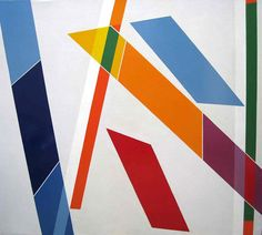 Signes dans l'Espace I by René Roche Oil on Canvas: 180 x 200 cm Signed and Dated 1981 - 1982