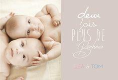 Faire-part jumeaux naissance Baby, Pregnancy, Babies, Infant, Child, Babys, Infants