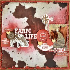 Kaisercraft Old Mac - Farm Life - Layout Gallery Scrapbooking Layouts, Scrapbook Pages, Farm Layout, General Crafts, Layout Inspiration, Farm Life, Farm Animals, Happy Friday, Card Making