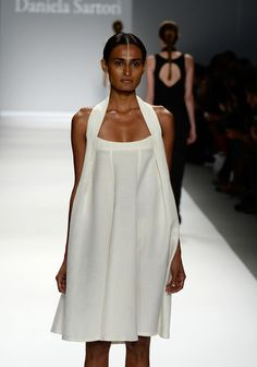 A model walks the runway at the Argentine Designers fashion show during Mercedes-Benz Fashion Week Spring 2014 at The Stage at Lincoln Center on September 6, 2013 in New York City.