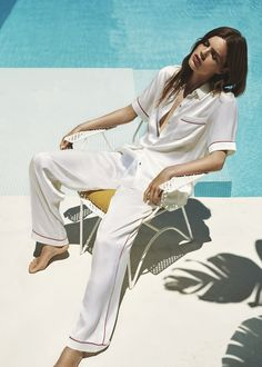 Personalise your silk pyjamas with our free bespoke monogram service. Silk Sleepwear, Silk Pajamas, Pyjamas, Nightwear, Lingerie Sleepwear, Luisa Lion, Pajama Outfits, Night Suit, Ralph Lauren
