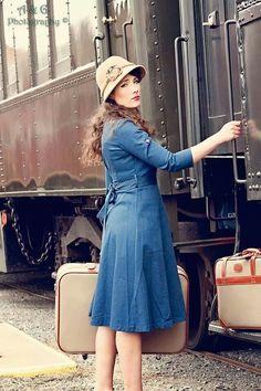 Cindy Hosack Burgess - 50's vintage, train depot, goodbye photo shoot