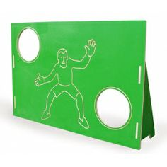 The goal has two holes which the child is supposed to hit the ball in. Fun exercise improving  eye-hand coordination. Made by Neo-Spiro.