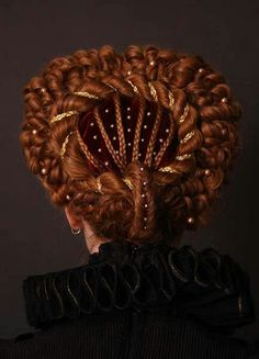 Elizabethan Hairdo... way more patients than I have for a hair style but beautiful