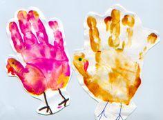 Thanksgiving Crafts,Turkey Handprint, toddler Crafts, Crafts for Kids