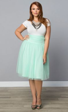 Spring Plus Size Fashion 2016 Add a soft touch of romance to your wardrobe with our plus size Twirling in Tulle Skirt. This full A-line skirt features layers of feminine tulle for an on-trend look. SHOP www.curvaliciousclothes.com
