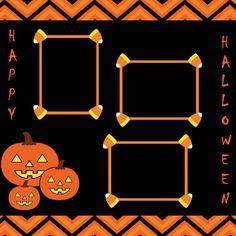 Halloween Pumpkin Scrapbook Page by JustJensCreations on Etsy, $5.00