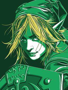"""""""Zelda - Link"""" by The Dark Inker - Hero Complex Gallery"""