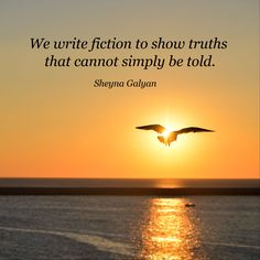 We write fiction to show truths  that cannot simply be told. / Sheyna Galyan