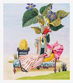 TIGER FLOWER STUDIO: A VIRTUAL GALLERY OF ARTISTS INTERIOR WATERCOLORS ONLINE @Stylebeat Marisa Marcantonio