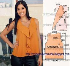 Materiales gráficos Gaby: Blusa molde de costura