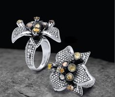 ♥ #MichaelM Collection exclusively at #CapriJewelersArizona ~ www.caprijewelersaz.com ♥  F192 Floral Cocktail Ring - Dreaming in Color