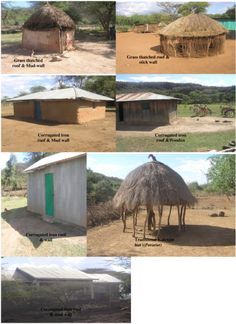 House types two rural villages in a semi arid area in Baringo,, Kenya. Thatched Roof, Types Of Houses, Hand Washing, Kenya, Mud, Grass, Politics, Culture, World