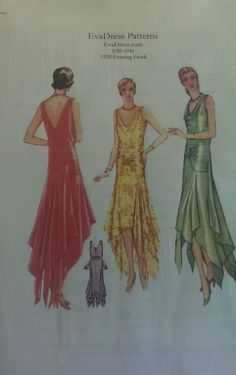 1920s 1929 Reproduction Dress reproduction pattern for a 1929 dress in multiple sizes.unused.It retails for $18.sld10.49+3.22 2bds 2/18/15