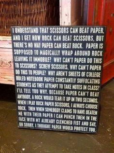Rock, paper, scissors?