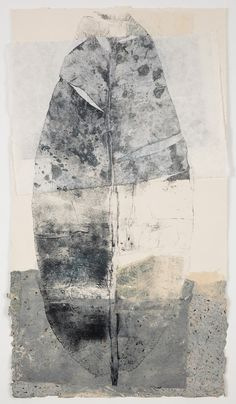 "Leaf Poem 1 by Jennifer Davies Monotype on handmade paper 50"" x 28"""
