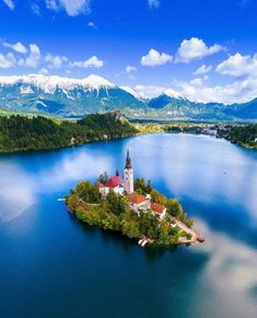 Travel and explore the world - . Deep blue water at Lake Bled Slovenia Top 10 Tourist Destinations, Places To Travel, Places To Visit, Greece Destinations, Wonderful Places, Beautiful Places, Bled Slovenia, Slovenia Travel, Bohinj