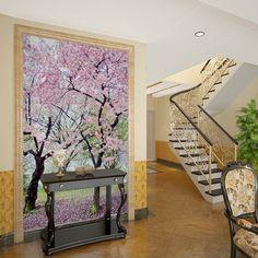 12.22$  Buy here - http://ali484.shopchina.info/1/go.php?t=32439484338 - wallpaper romantic cherry tree wallpaper mural entrance wallpapers mural hallway dining room custom 12.22$ #buyininternet
