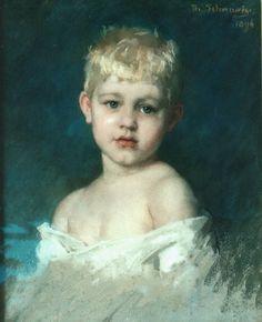 Thérèse Schwartze (Amsterdam 1851-1918) Portrait of a boy - Dutch Art Gallery Simonis and Buunk Ede, Netherlands.