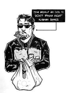 kavysworld: Inktober Day 4: everyone dealt with civil war in their own ways #the_return_of_Tony_ Stark:canon_snack_lover